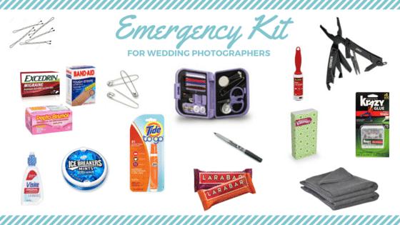 photography, wedding kit, brides, emergency, wedding day