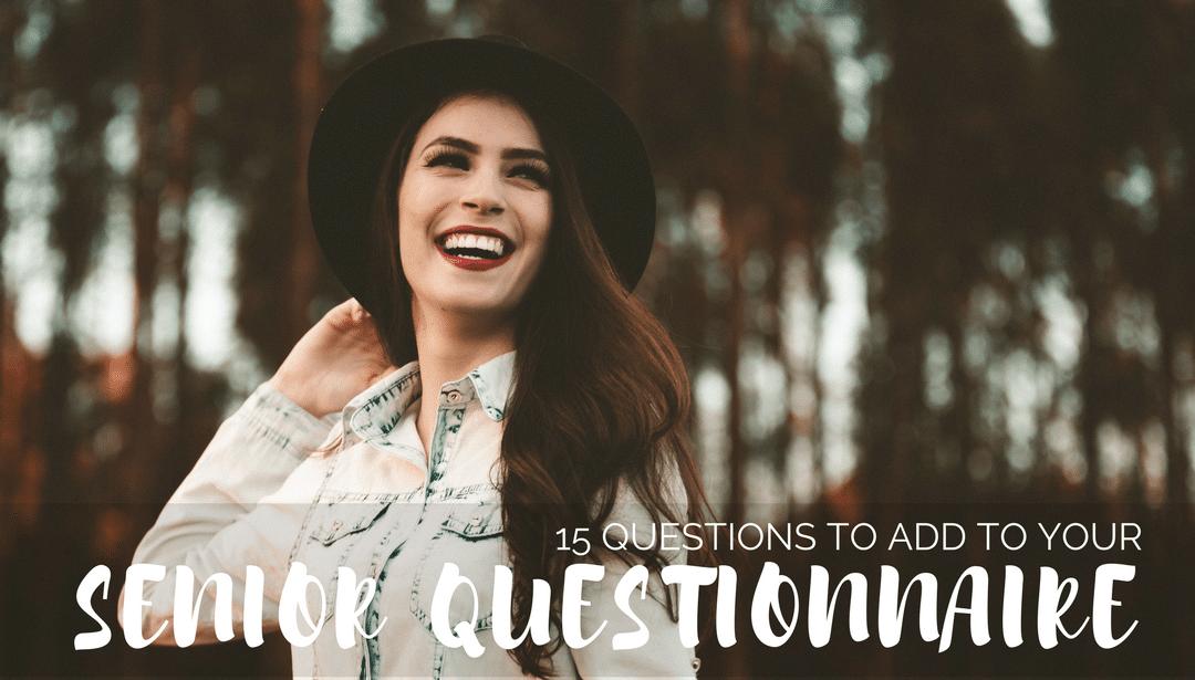 senior, questionnaire, client, prep, business, photography