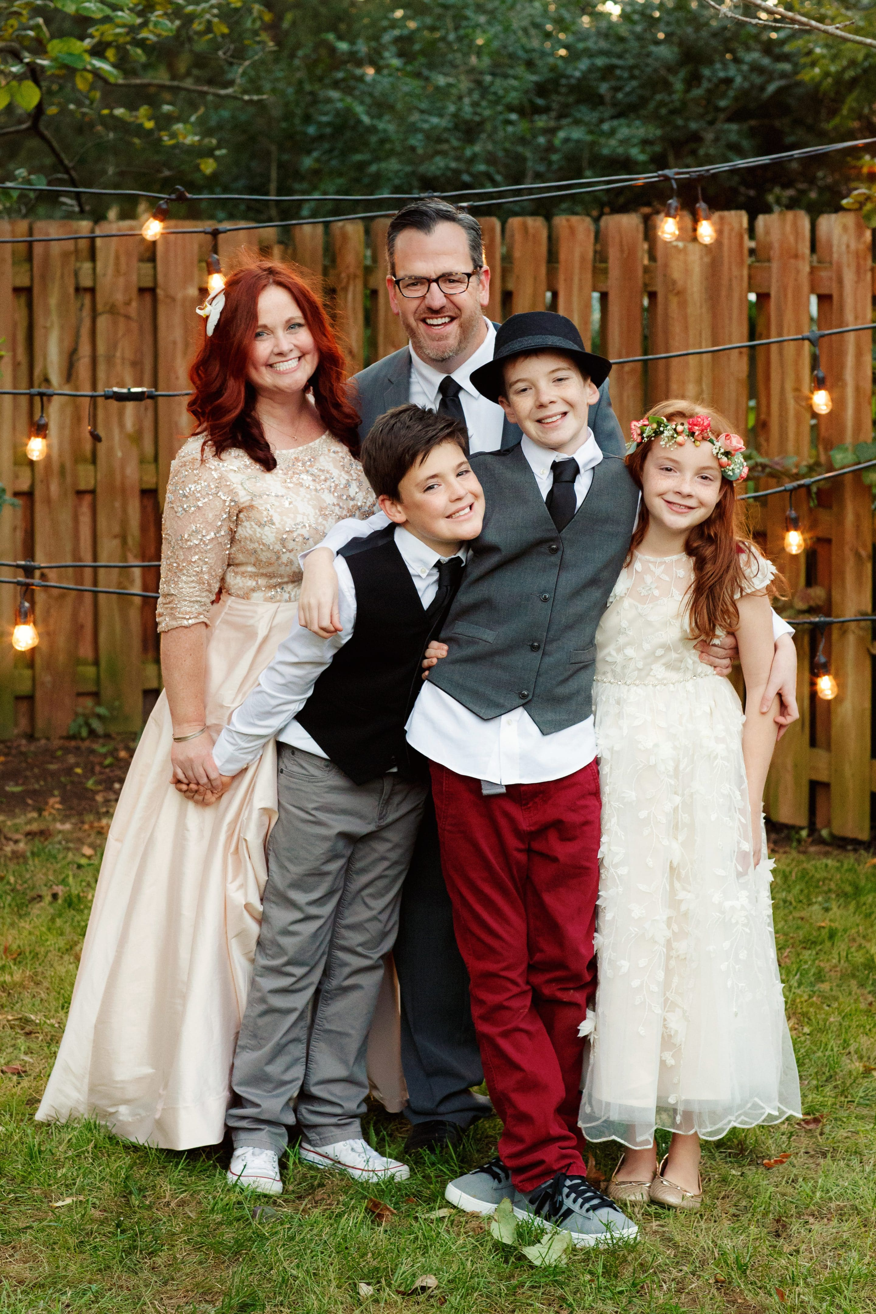 Bobbi and her family at her wedding