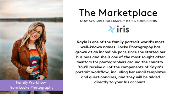 Kayla Locke is one of the most sought after family photographer. Find her full workflow in the Iris Marketplace