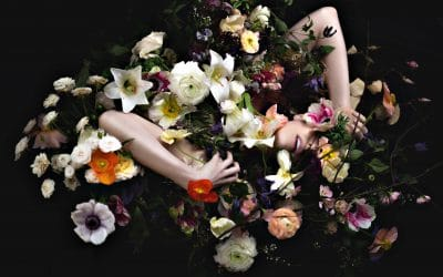 dauss miller - photo of woman covered in flowers